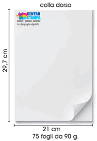 Block notes formato A4 misura perfetta